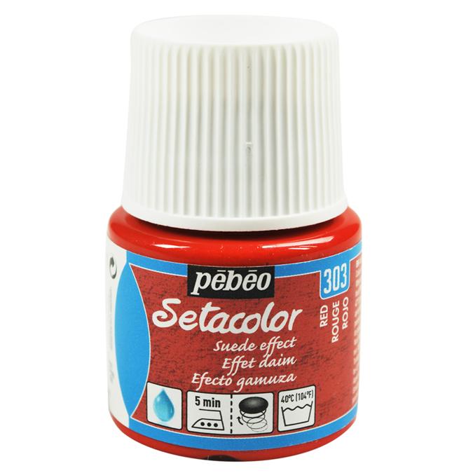 Peinture textile Setacolor effet daim 45 ml 317 - Brume