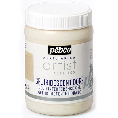 Gel iridescent doré artist 250 ml