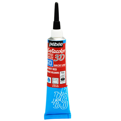 Peinture relief s tacolor 3d effet brod 39 line 20 ml p b o - Peinture effet relief ...