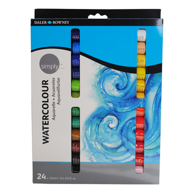 Set de 24 tubes de peinture aquarelle Simply 12ml