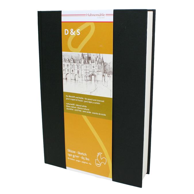 Livre à croquis format portrait couverture noire 140g/m²