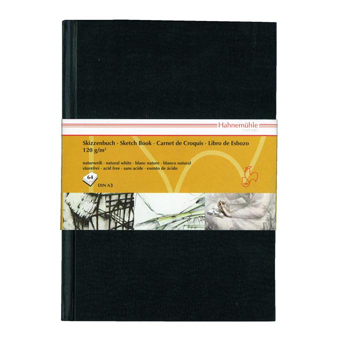 Livre à croquis format portrait couverture noire 120g/m²