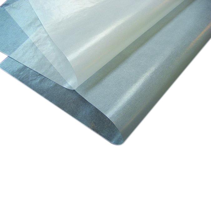 Feuille de papier cristal glacé 65 x 100 cm 40 g/m²