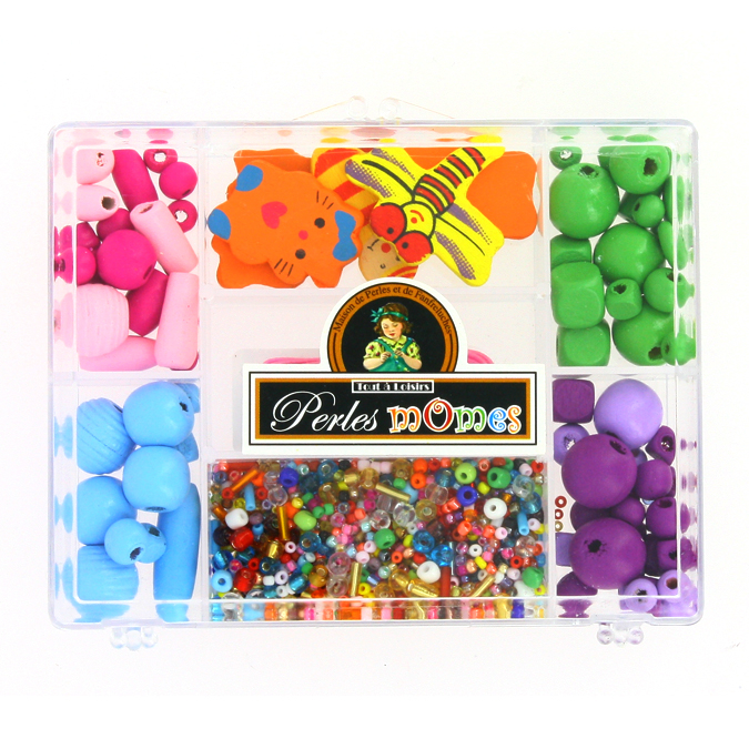 Kit de perles enfants et apprêts assortiment multicolore