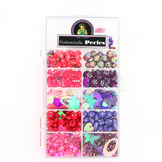 Kit de perles 11 cases assortiment rose-violet