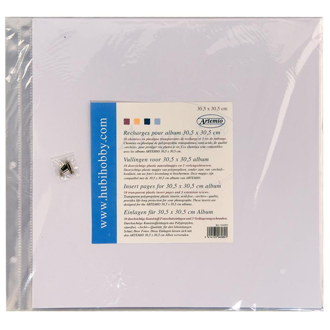 Recharge plastique 30.5x30.5cm pour album Artemio