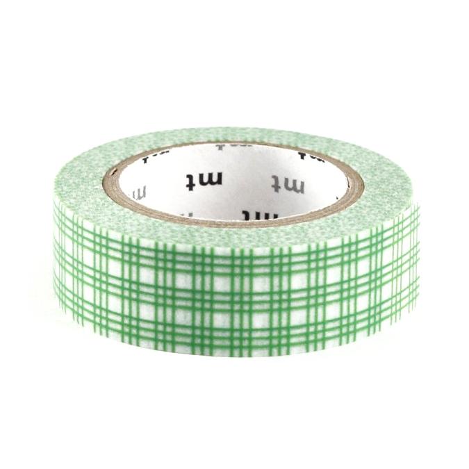 Masking tape quadrillé vert