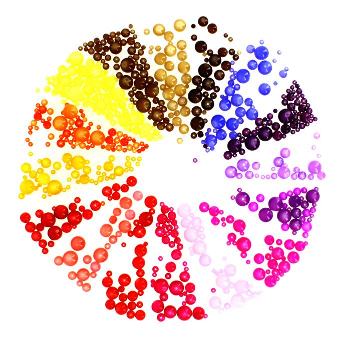 Perles en verre opalescentes rondes 4 à 14mm assorties