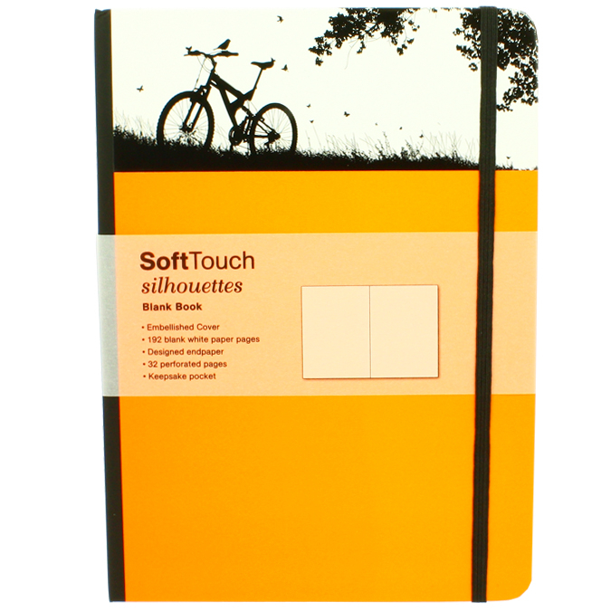 Carnet de notes SoftTouch silhouettes bike 16 x 22 cm