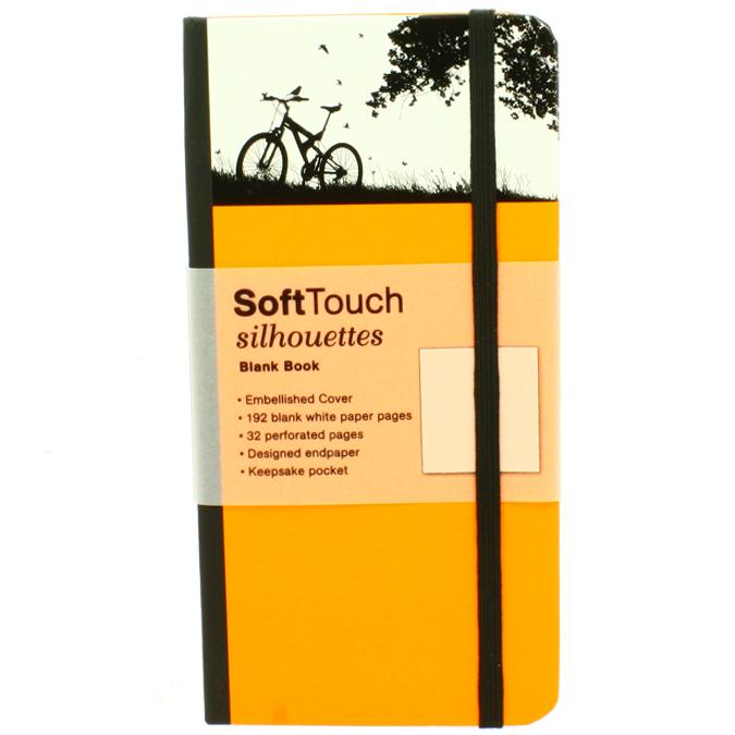 Carnet de notes SoftTouch silhouettes bike 9 x 18 cm