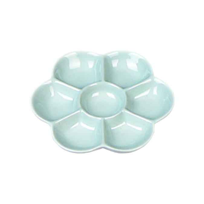 Palette en porcelaine marguerite ø12cm 6 alvéoles