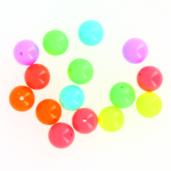 Perles bonbons ronds multicolores