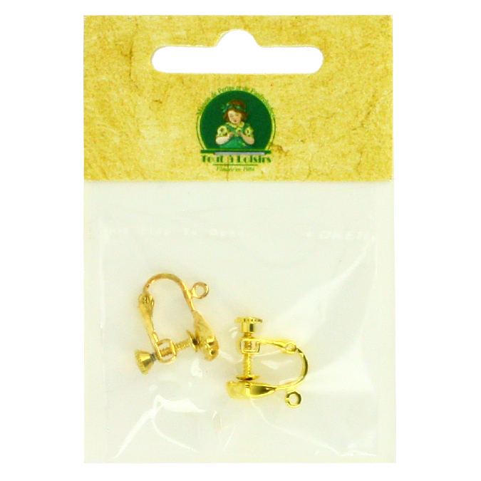 Support boucles d'oreille clips à vis or