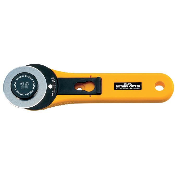 Cutter ambidextre à lame rotative 45 mm.