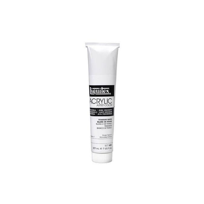 Peinture acrylique extra-fine blanc de titane 207 ml