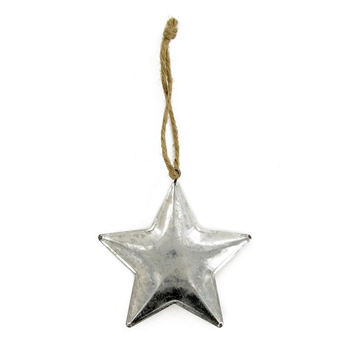 Suspension étoile zinc 8 cm