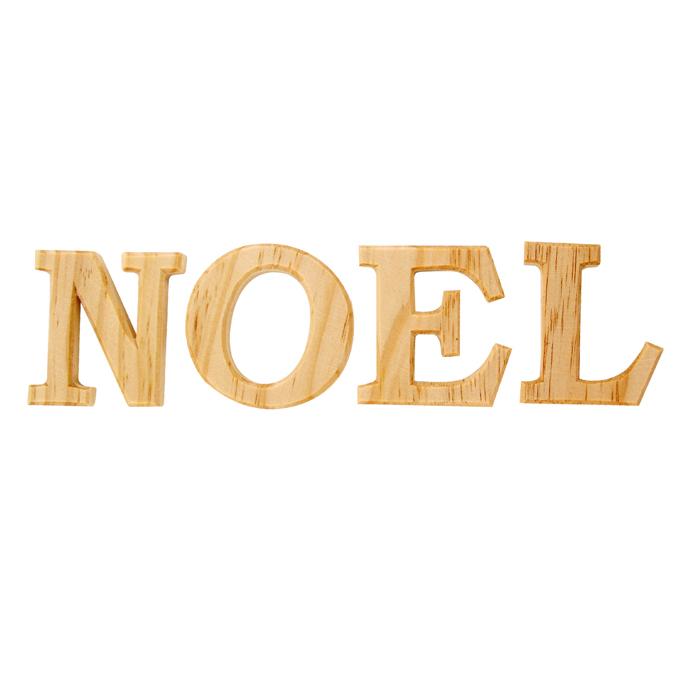 Mot Noël en bois noble lettres 7 cm