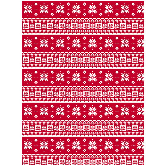Papier Décopatch 30 x 40 cm 672 pull Noël norvégien