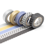 Masking tape 10 m argent/or x 5