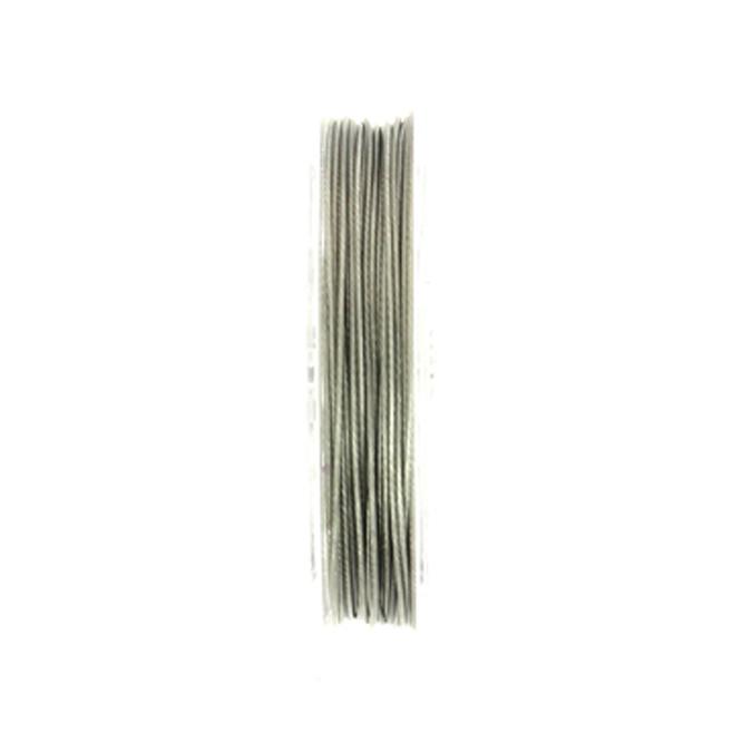 Fil câblé argent 0.4mm par 5m