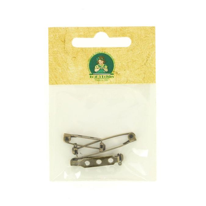 Supports de broche à coller bronze