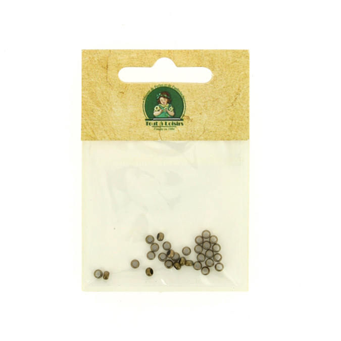 Perles à écraser 3mm bronze