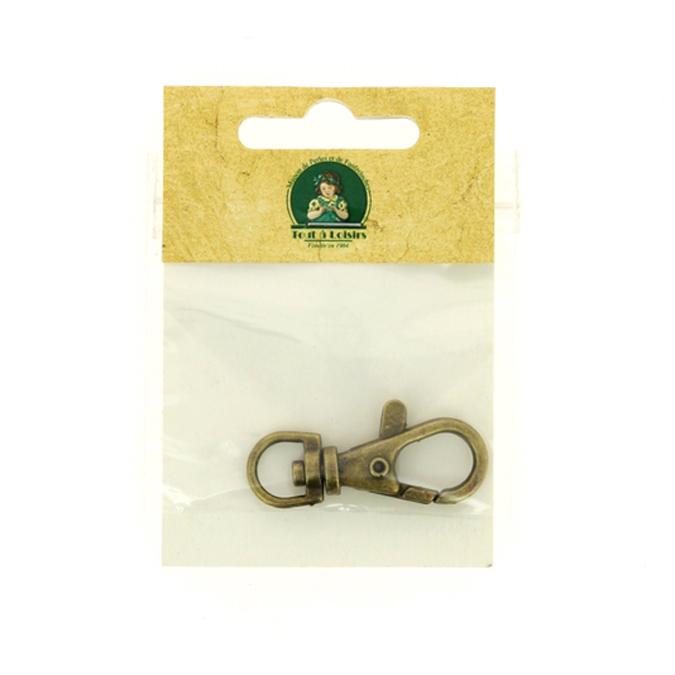 Mousqueton pour porte clef bronze
