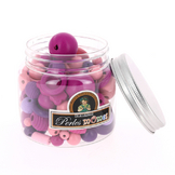 Bocal de perles enfants assortiment rose-violet