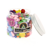Bocal de perles enfants assortiment multicolore