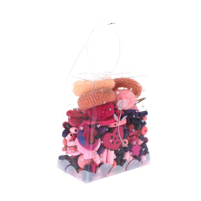 Sachet de perles enfants assortiment rose-violet