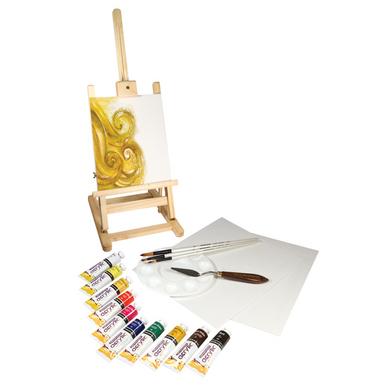 Chevalet de table graduate peinture acrylique 38 ml par 10 daler rowney chez rougier pl - Chevalet de table peinture ...