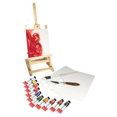 Chevalet de table graduate et peinture l 39 huile 38 ml par 10 daler rowney chez rougier pl - Chevalet de table peinture ...