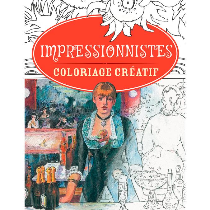 Cahier de coloriage créatif Impresionnistes