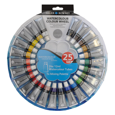 Aquarelle en tube 12 ml par 24 + palette