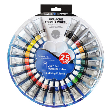 Gouache en tube 12 ml par 24