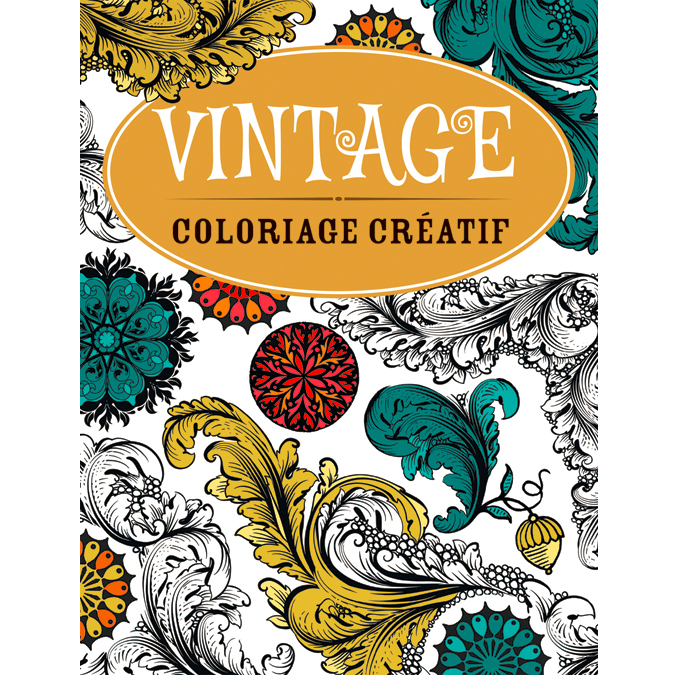 Cahier de coloriage créatif vintage