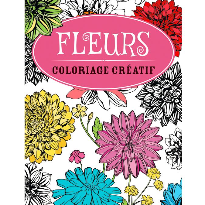 Cahier de coloriage créatif fleurs