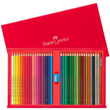 coffret de crayons de couleur aquarellables par 35 faber-castell