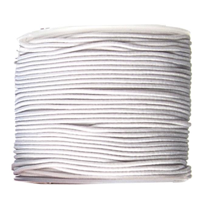 Fil élastique guipé 1mm par 28m Blanc