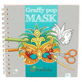 Cahier coloriage masques Graffy Pop Mask Rio