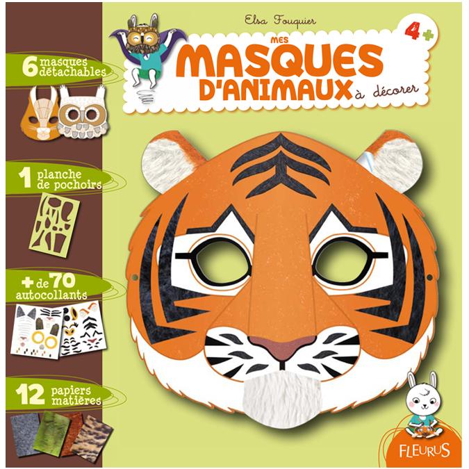 Mes masques d'animaux à décorer