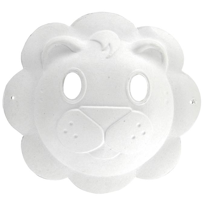 Masque lion en papier recyclé 23 x 22 cm