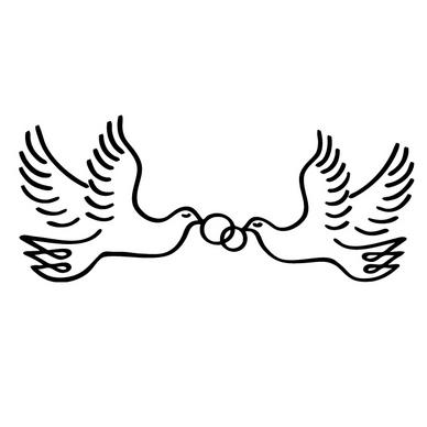 Tampon colombes et anneaux Aladine chez Rougier & Plé