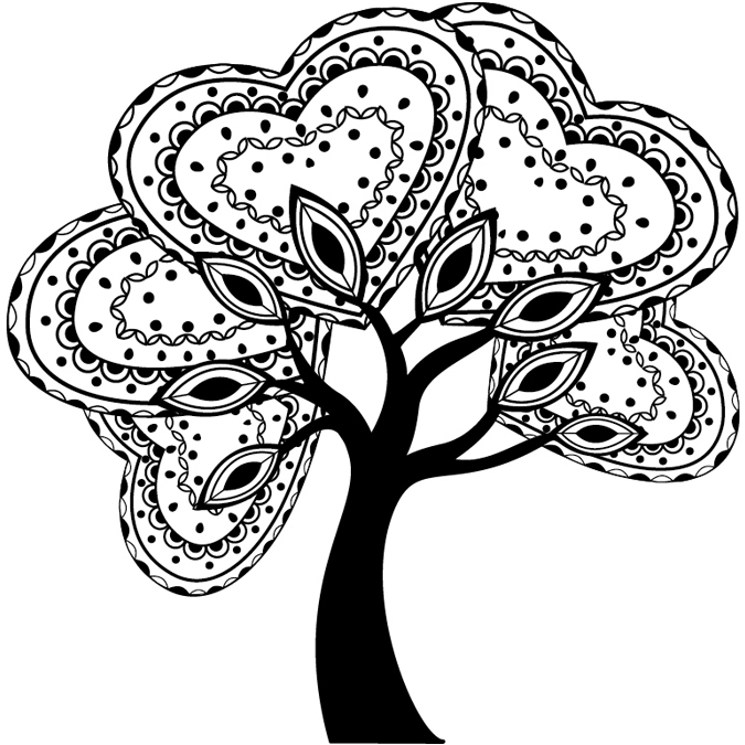 Tampon arbre zentangle