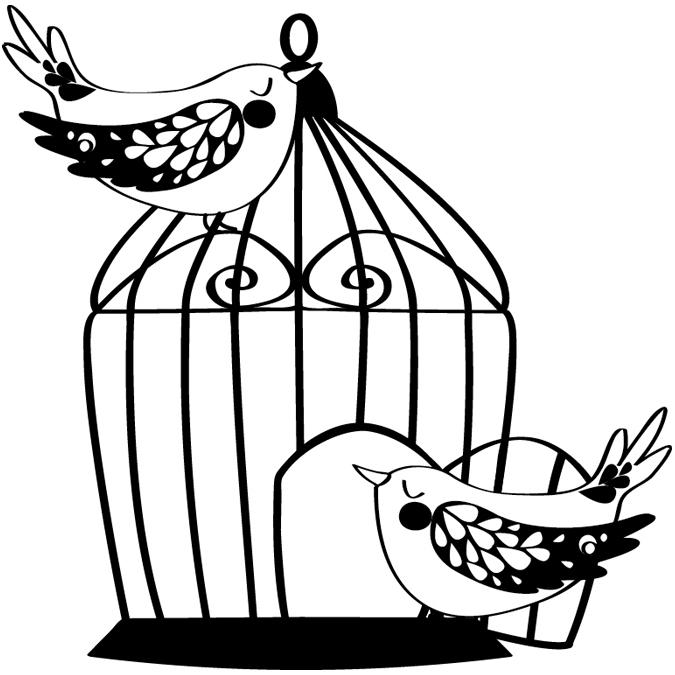 Tampon cage aux oiseaux