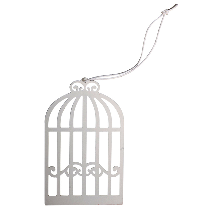 Pendentif en métal cage à oiseaux