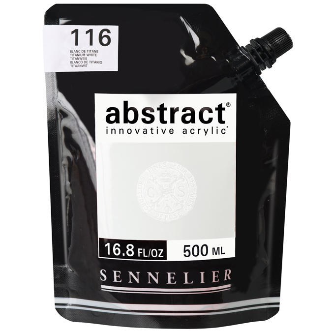 Peinture acrylique fine Abstract 500 ml 116 - Blanc de titane