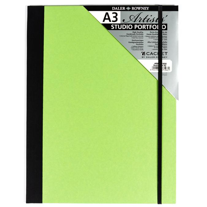 Carton à dessin vert