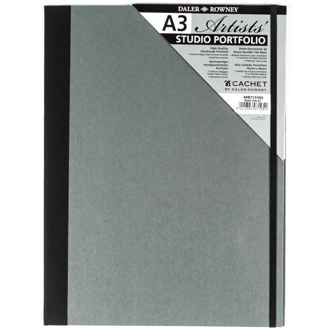 Carton à dessin gris