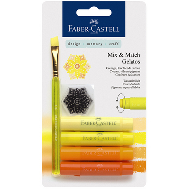 crayons gelatos 4 nuances de jaune faber castell chez. Black Bedroom Furniture Sets. Home Design Ideas